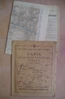 PCU/38 CARTA ZONE TURISTICHE D´ITALIA T.C.I. - VAL GARDENA-MARMOLADA-CATINACCIO-GRUPPO SELLA Anni ´20 - Cartes Topographiques