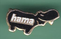 47574- Pin's.hippopotame.perles Hama .. - Animali