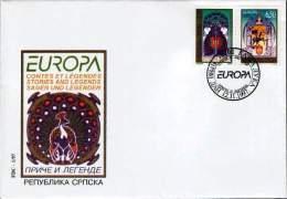 Bosnia Serbia 1997 Europa CEPT, Legends, Set FDC - 1997