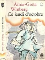 Roman. Jeunesse. Anna-Greta Winberg. Ce Jeudi d'octobre (A partir de 12 ans) (Livre de Poche) n�6