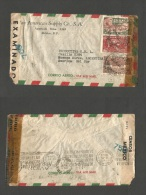 MEXICO. 1944 Multifkd Cover, By Airmail.. YEAR END SALE!! - Mexique