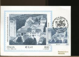 ITALIA - Cartolina Maximum - ABBAZIA DI SANTA MARIA IN SYLVIS - Primo Giorno Di Emissione - Maximum Cards