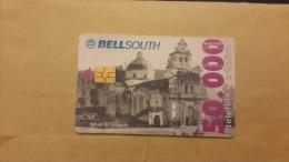 Ecuador-lglesia De Guapulo Quito(1809)-chip Card-50.000-used +1card Prepiad Free - Ecuador