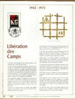 Feuillet D´art Tirage Limité 500 Exemplaires Frappe Or Fin 23 Carats 1768 Libération Des Camps Angleur - Feuillets