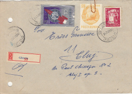32722- IURI GAGARIN, SOCIALIST REPUBLIC COAT OF ARMS, NUCLEAR REACTOR, STAMPS ON REGISTERED COVER, 1968, ROMANIA - 1948-.... Republics