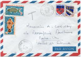 WALLIS ET FUTUNA LETTRE PAR AVION DEPART ASSIGNAN 16-2-1973 TAXEE A L'ARRIVEE A MATA-UTU 1-4-1973 WALLIS ET FUTUNA - Covers & Documents