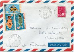 WALLIS ET FUTUNA LETTRE PAR AVION DEPART ASSIGNAN 16-2-1973 TAXEE A L´ARRIVEE A MATA-UTU 1-4-1973 WALLIS ET FUTUNA - Covers & Documents