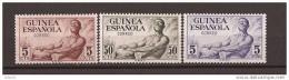 GUI311STV-LFT4020TCSC.Guinea Guinee GUINEA ESPAÑOLA.INDIGENAS Y TAM TAM.1952.( Ed 311/3**) Sin Charnela .MAGNIFICA - Culturas