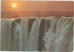 O68 Zambia - Victoria Falls - Sunset Coucher Tramonto - Nice Stamps Timbres Francobolli / Viaggiata 1971 - Sambia