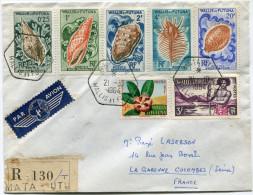 WALLIS ET FUTUNA LETTRE RECOMMANDEE PAR AVION DEPART MATA-UTU 21-10-1964 POUR LA FRANCE - Covers & Documents