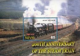 Nevis  Block 200 Jahre Eisenbahn Dampflok ** / MNH - Trains
