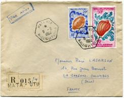WALLIS ET FUTUNA LETTRE RECOMMANDEE PAR AVION DEPART MATA-UTU 6-6-1964 POUR LA FRANCE - Covers & Documents