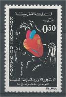 Morocco, European Week Of The Heart, 1971, MNH VF - Morocco (1956-...)