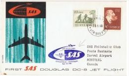 VOL-L17 - NORVEGE 1er Vol DC 8 Stockholm - Montréal 1960