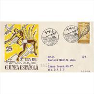 GUISPD368STV-LFT4020TTOA. Guinee GUINEA ESPAÑOLA.ESCUDRILLA ATLANTIDA.1957.( Ed 368º) SOBRE DEL PRIMER DIA CIRCULAD - Transporte