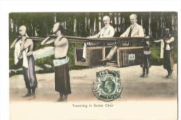 CHINE , HONGKONG , TRAVELLING I9N SEDAN CHAIR - Chine
