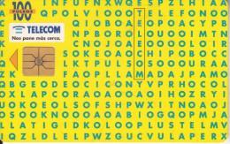 ARGENTINA - Letters Soup Game, Telecom Argentina Telecard, Chip GEM1, 01/96, Used - Argentina