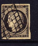 FRANCE Y&T 3b OBL CANCELED.  (STRF497) - 1849-1850 Cérès