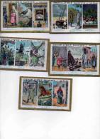 Lot De 5  Images Publicitaires Anciennes Chocolat Saintoin  Orléans - Cioccolato