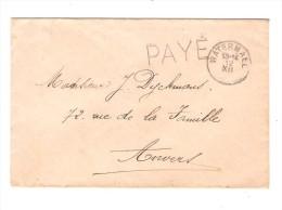 Lettre Fortune Griffe Payé C.Watermael 12/12 (sans Millés.v.Anvers En 1918 PR2406 - Postmark Collection