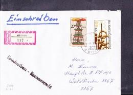DDR: R-Brief 20 Pfg Mke Aus Kleinbogen W-Pyramiden Aus 402 Halle (317) - DDR