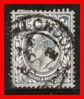 1909 / 1910  -   TP  N°123 Edouard VII    7 Pence Gris  -  UK / Grande Bretagne - 1902-1951 (Rois)