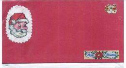 CARTE SIMPLE  BRODEE MAIN POINT DE CROIX+ ENVELOPPE - Point De Croix