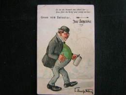 K- N°35 / Grüss Vom Salvator. Schenke  (Brasserie/Brewery/Bierbrauerei) / Circulé à Arnhem Vers Kortrijk En 1911 - Illustratori & Fotografie