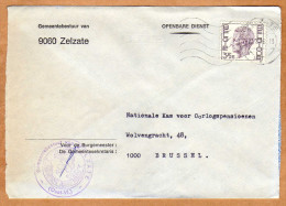 Enveloppe Brief Cover Gemeentebestuur Van Zelzate - Belgien