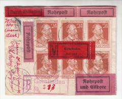 R-Briefkuvert, Rohrpost, Eilboten, Verschlusssache, Von Gernlinden Nach Olching, 1947 - Deutschland