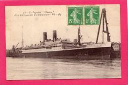 PAQUEBOT LE FLANDRES DE LA Ci° GENERALE ATLANTIQUE BR 487 PHOTOTYPIE C. JEANGETTE SANNOIS - Cartoline