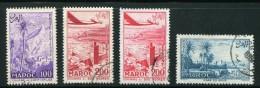 Maroc- P.A Y&T N°100 à 102 + 101a)- Oblitérés - Airmail