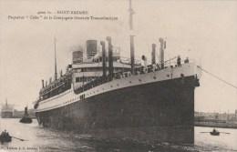 """CPA TRANSPORT BATEAU PAQUEBOT - Paquebot """"CUBA"""" Compagnie Générale Transatlantique à Saint Nazaire - Dampfer"""