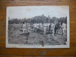 """Camp De Chambaran , Pièce De 65 Attelée """" Carte Animée """""""" - Francia"""