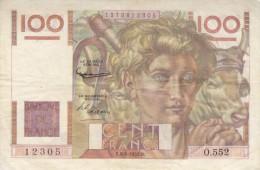 Billet 100 F Jeune Paysan Du 6-8-1953 Alph. O.552 - 100 F 1945-1954 ''Jeune Paysan''