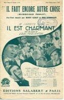 CAF CONC PARTITION HENRY GARAT FILM IL EST CHARMANT IL FAUT ENCORE AUTRE CHOSE WILLEMETZ MORETTI - Music & Instruments