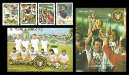 ST THOMAS AND PRINCE 1990 ITALY 90 USA 94 FOOTBALL SOCCER WORLD CUP MNH - Sao Tome And Principe