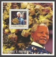 ST THOMAS AND PRINCE 2003 MANDELLA MINERALS M/SHEET MNH - Sao Tome And Principe