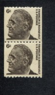 334201797 USA POSTFRIS MINT NEVER HINGED POSTFRISCH EINWANDFREI SCOTT 1298 Pair Coils Roosevelt - Vereinigte Staaten