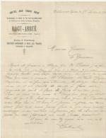 CHATILLON SUR LOIRE ET BONNY BEAULIEU HOTEL DES TROIS RAGU ABRUE SERVICE D OMNIBUS VOITURE A TOUS LES TRAINS ANNEE 1904 - France