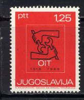 YOUGOSLAVIE - N° 1211** - CINQUANTENAIRE DE L'O.I.T. - 1945-1992 Socialist Federal Republic Of Yugoslavia