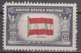 United States    Scott No.  919     Mnh   Year  1943 - Verenigde Staten