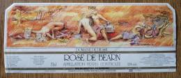 -  ROSE DE BEARNE   - DOMAINE DE DIUSSE -- ILLUSTRATION J DE LA PATELLIERE /88 - Labels