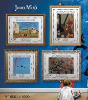NIGER 2015 - Joan Miro, Cat M/S. Official Issue - Katten