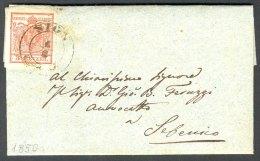 Austria, 1850, Dalmatia, Croatia, Letter From Sign (Sinj) To Sebenico - Autriche