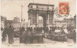 CPA 13 - Marseille - La Porte D'Aix Et Le Marché - Marseilles