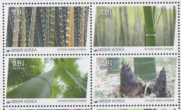 SOUTH KOREA, 2015 , MNH, PLANTS, BAMBOO, WORLD BAMBOO FAIR,4v