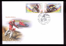 Moldova 2015, Motorbikes Cars Motocross Autocross, FDC - Moldova