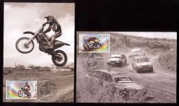 Moldova 2015, Motorbikes Cars Motocross Autocross, 2 Maxicards - Moldova