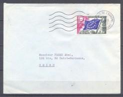 France Enveloppe Premier Jour Timbres De Service YT N°28 Drapeau Du Conseil De L'Europe Oblitération 15-10-1963 - FDC